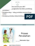 Proses Perubahan Praktik Kebidanan