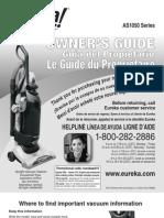 Eureka Air Speed AS1050A Manual