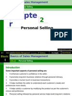 Chapter 2 Personal Selling -Sales and Distribution Management