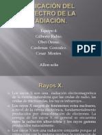 Aplicación del espectro de la radiación