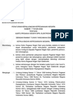 Peraturan Kepala BKN No. 7 Tahun 2008 Ttg Kartu Pegawai Elektronik