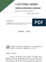 J. G. Herder - Ensayo sobre el origen del lenguaje