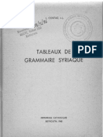 8 (Suryoyo) Tableaux de Grammaire Syriaque by Costaz-Syriac Syrian Aramaic Grammar