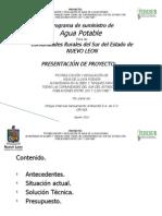 Presentación FIDESUR Agua Potable 2010
