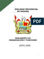 to de Organizacion y Funciones - Huaura