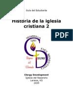 Hisoria de La Iglesia 2 -- Guia Del Estudiante