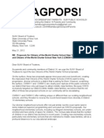 WAGPOPS Letter to Suny Opposing Citizens of the World Charter Schools