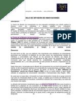 teoría de la difusión de innovaciones - Hagerstrand