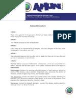 AMUN Rules of Procedurw