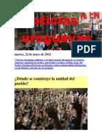 Noticias Uruguayas Martes 22 de Mayo de 2012
