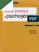Guide Pratique de Psychogeriatrie