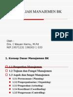 1 Mata Kuliah Manajemen Bk