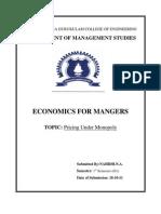 Economics Assignment NAHIDH.N.A