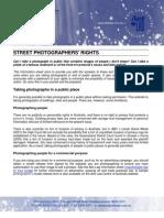 Australia Street Photographers Rights