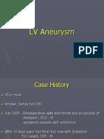 LV Aneurysm