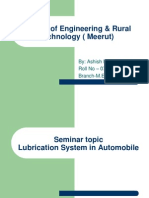 Lubrication System in Automobile