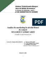 Analiza de Marketing La Nivelul Firmei de Comert SELGROS CASH&CARRY FINAL.