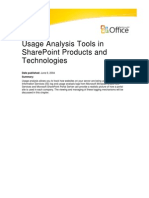 Share Point Usage Analysis