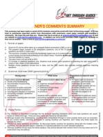 Examiners Comments Summary F3