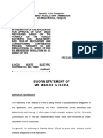 (Urr Inec) Sworn Statement of Manuel Flora