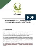 Alegaciones PERI La Arboleda. 2012-05-22