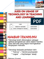 Issues on Usage of Technology in Teaching and Learning