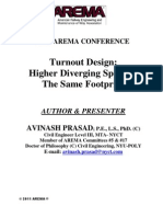 Turnout Design-Higher Diverging Speed in the Same Footprint