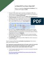 Insertar Archivos Flash SWF en Power Point 2007