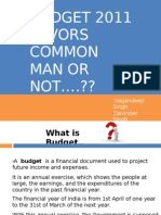 Budget 2011 Favors Common Man or Not