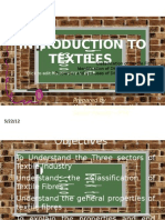 Introduction to TEXTILES - Fibres , Classification, Properties and Identification