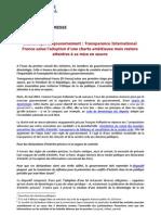 Communiqué de presse TI - Déontologie du gouvernement