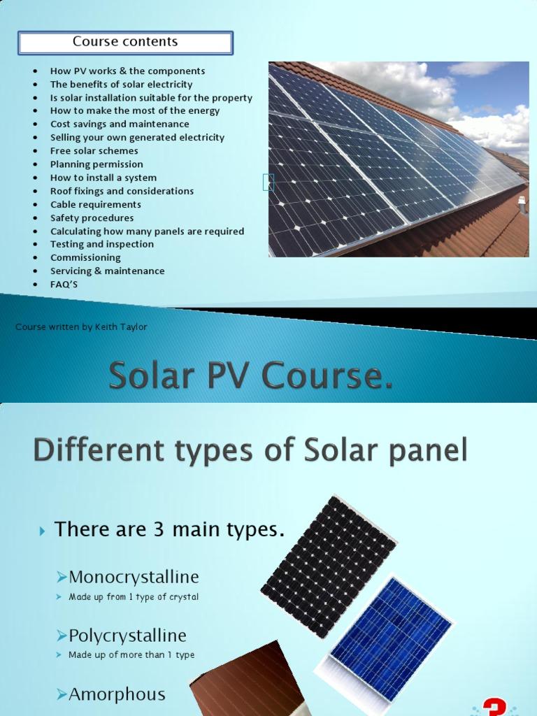 Solar PV Course | Power Inverter | Photovoltaics