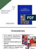 Presentacion y Resumen - Guatemala Una Agenda Para El Desarrollo Humano INDH 2003