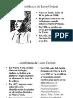 Breve Semblanza de Leon Croizat