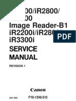 Canon imagerunner ir2200 ir2800 ir3300 image reader-b1 service.
