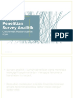 Metode Penelitian Survey Analitik