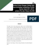 Aksesibilitas Pangan Dunia Arab Pasca Instabilitas Politik Regional