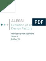 MBA - Marketing Management - Alessi Case Study