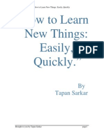 eBook Self Help How to Learn New Things Easily Quickly