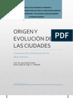 ORIGEN Y EVOLUCIÓN DE LAS CIUDADES