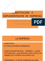 Constitucion e Implementacion de Empresas Concepto (2)
