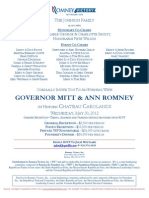 An Evening with Gov. Mitt & Ann Romney for Romney for President