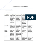 The Giver Rubric