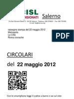 Rassegna Stampa Del 22 Maggio 2012