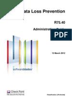 CP R75.40 Data Loss Prevention Admin Guide