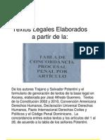 Concordancia Artículos Código Procesal Penal con Constitución y otras leyes