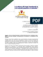 Manifesto Diffida Al Sindaco Di San Giorgio Del Sannio Amianto e Giardinetti