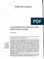 91557314 Augustine on God as Love and Love as God