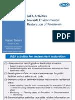 JAEA Activities Towards Environmental Restoration of FUKUSHIMA
