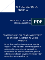 Ahorro y Calidad de La Energia